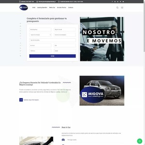 www.migovaleasing.cl Migova Leasing - Leasing Operativo Automotriz y Rent a Car  Tipo: Web OnePage Web App: WordPress Plugins & Tools: Elementor Pro, Cresta Help Chat  #surempresa #webdesign #websites #webpage #webpagedesign #webdeveloper #websitedevelopment #webdesignagency #website #webdevelopers #webdesigning #onepage #wordpress
